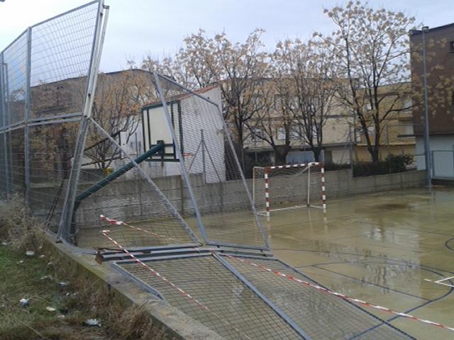 Educación reparará los daños ocasionados por el temporal en el Instituto