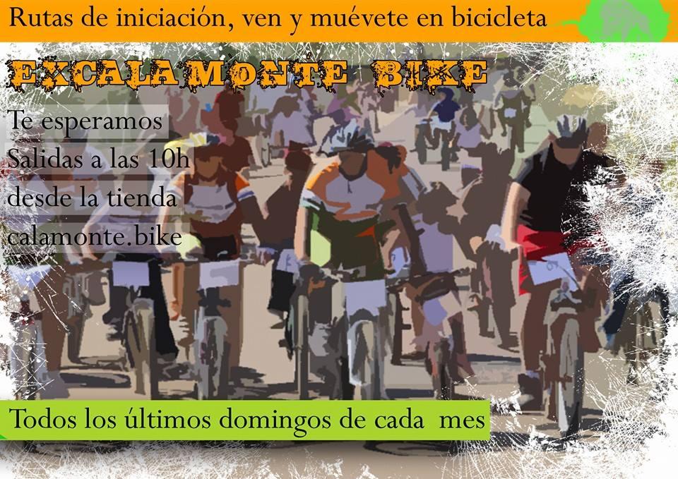 El Club de MTB ExCalamonte Bike organiza este domingo la primera ruta de iniciación